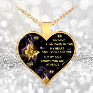 Heart Pendant Necklace - My Mind Still Talks To You