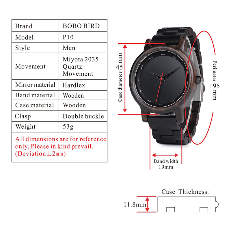 Bamboo Wooden Watches Men
