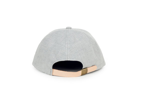 Chambray Ball Cap, Light Grey