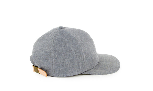 Chambray Ball Cap, Blue Slate