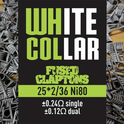 White Collar - Fused Claptons 25*2/36 Ni80