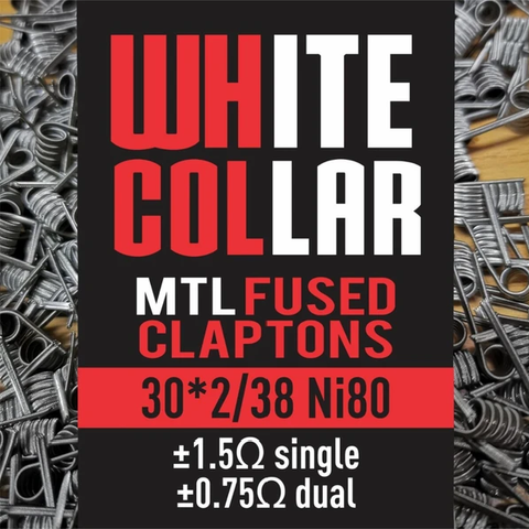 White Collar - MTL Fused Claptons 30*2/38 Ni80