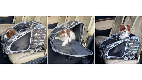 3 different openings for Petique 5-in-1 Pet Carrier
