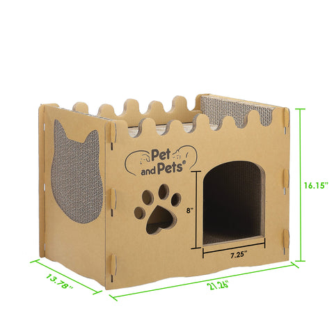 Bungalow Eco Pet House Dimensions