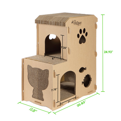 Feline Meow House Eco Cat House Dimensions