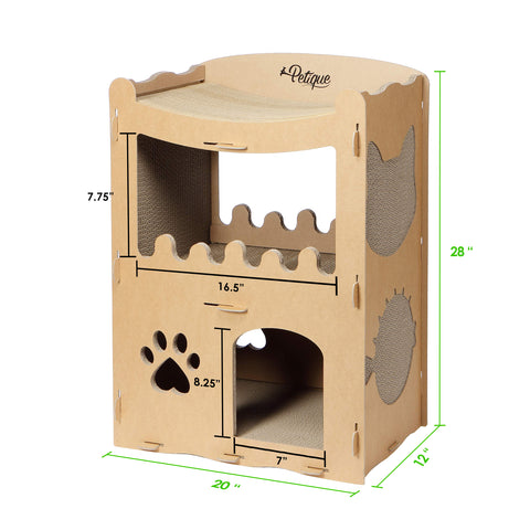 Feline Penthouse Cat House Dimensions