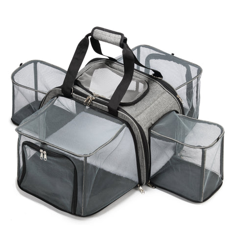 Happy Camper Pet Carrier expandable mesh sides
