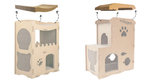 roof replacements for Feline Penthouse and Meow House Cat House