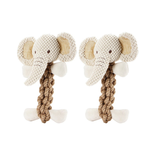 Tough Hemp Elephant Pet Toy