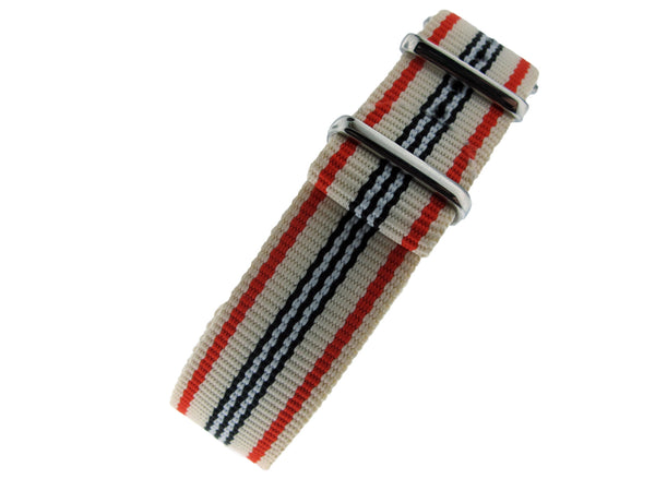 Cream/Blue/Red Nato Strap