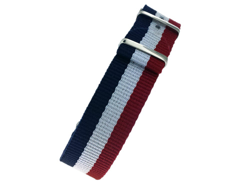 Red/White/Blue NATO Strap