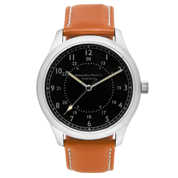 Front Street (Silver Case) watch by Hudson River Watch Co