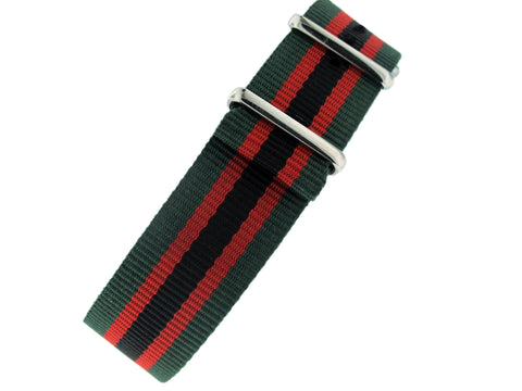 Green/Black/Red Nato Strap