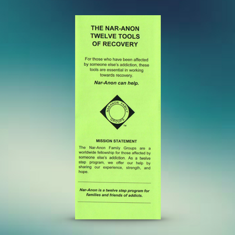The Nar-Anon Twelve Tools of Recovery
