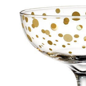 Gold Dot Glassware