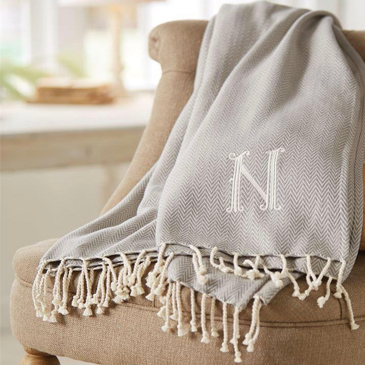 Monogrammed Throws