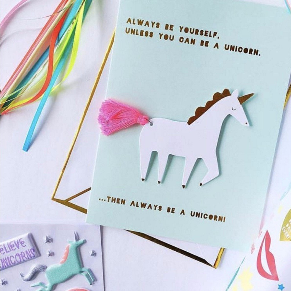 I Believe In Unicorns Greeting Cards Le Petite Putti Party Canada