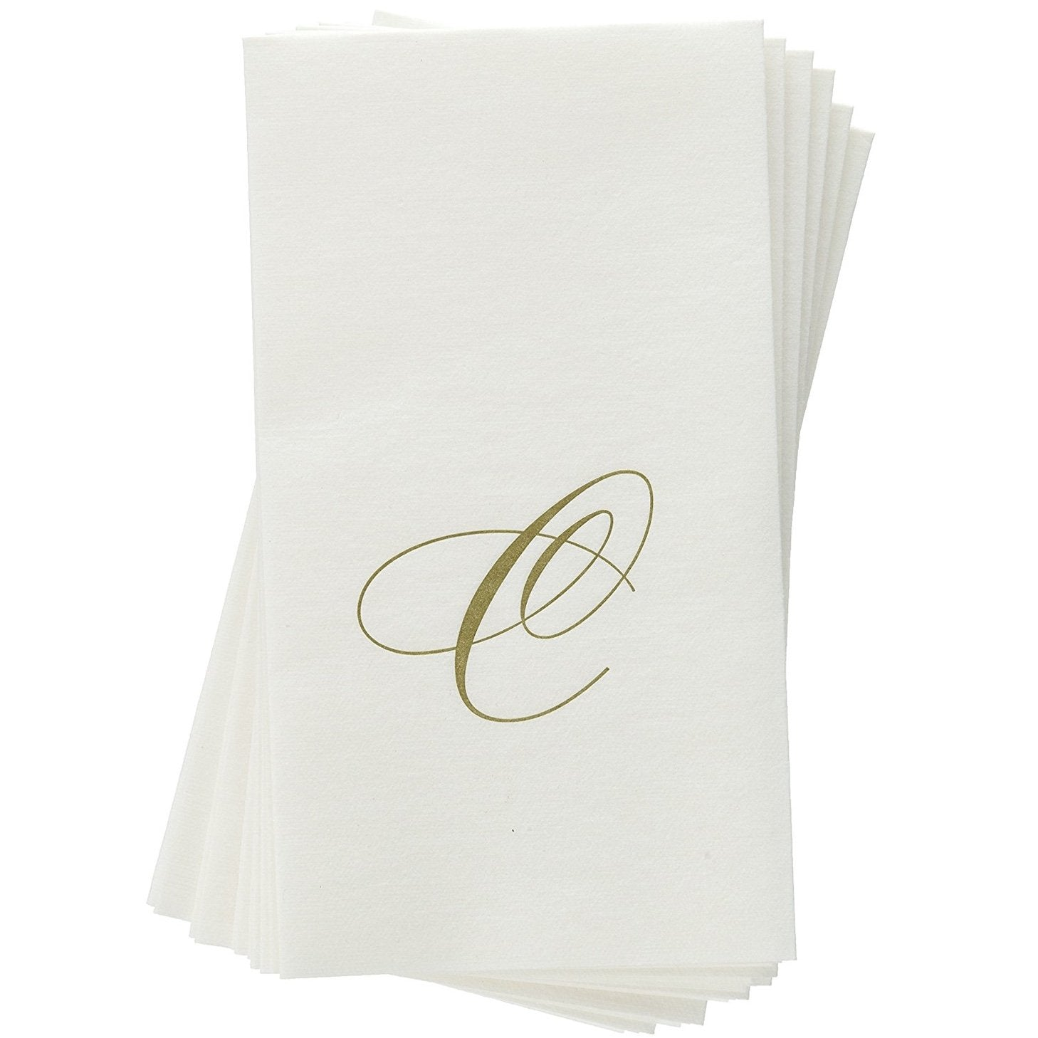 Monogram Paper Guest Towels