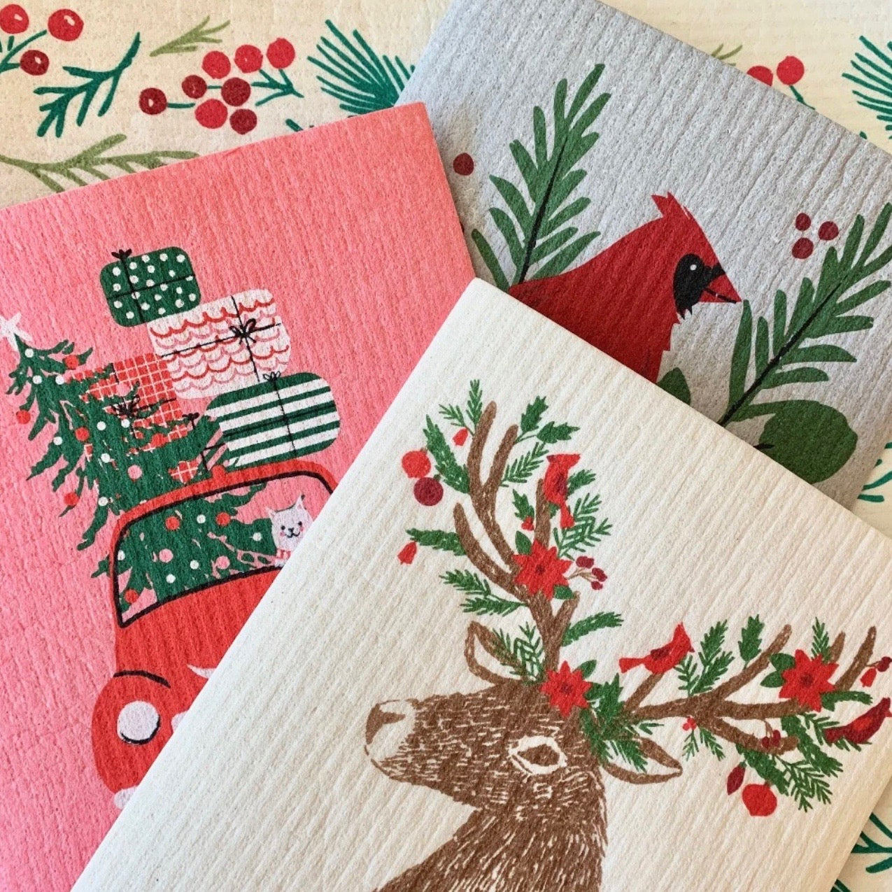Christmas Swedish Dish Cloths