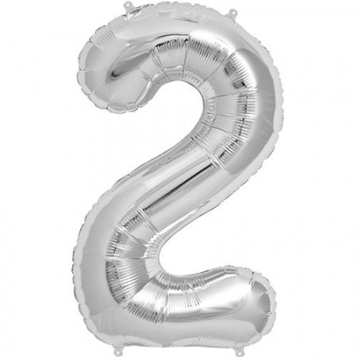 Silver Foil Number Balloon - Two, SE-Surprize Enterprize, Putti Fine Furnishings
