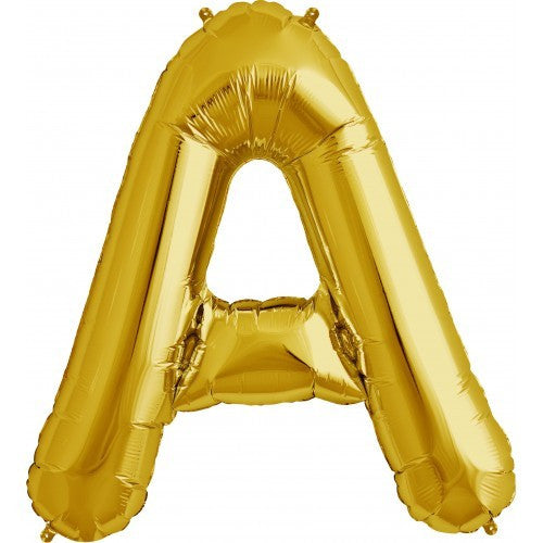 "Gold Foil Letter Balloon 34"" - A"