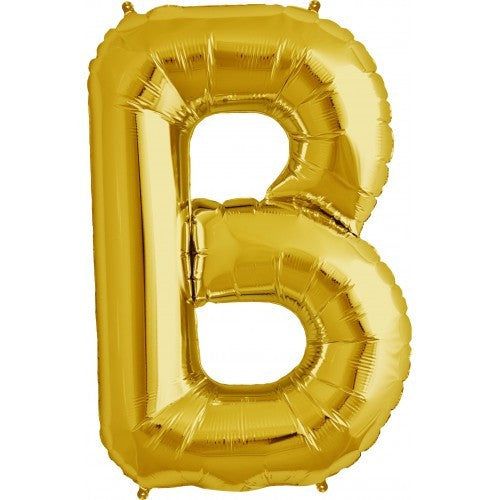 "Gold Foil Letter Balloon 34"" - B"