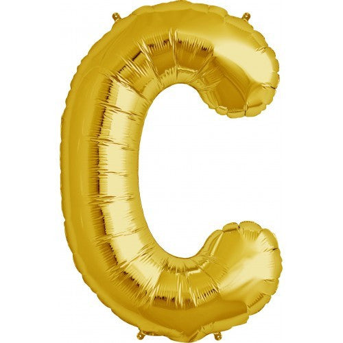 "Gold Foil Letter Balloon 34"" - C"
