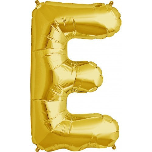 "Gold Foil Letter Balloon 34"" - E, SE-Surprize Enterprize, Putti Fine Furnishings"