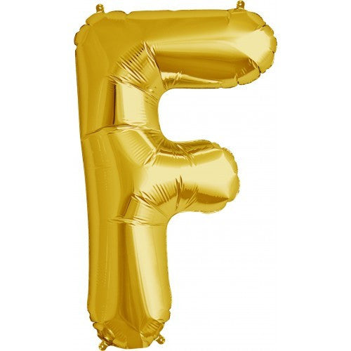 "Gold Foil Letter Balloon 34"" - F"