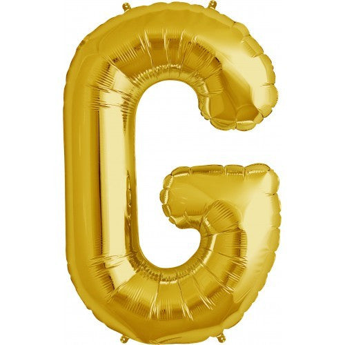 "Gold Foil Letter Balloon 34"" - G"