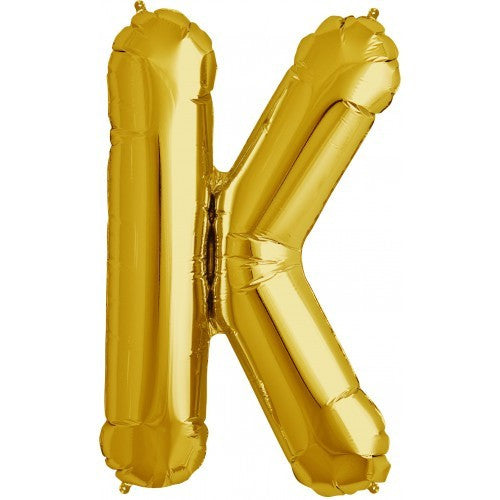 "Gold Foil Letter Balloon 34"" - K"