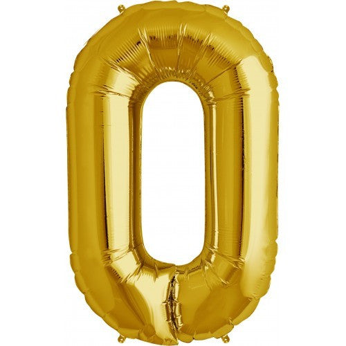 "Gold Foil Letter Balloon 34"" - O"
