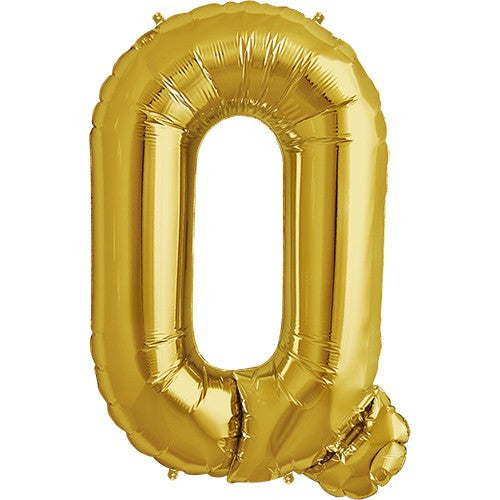 "Gold Foil Letter Balloon 34"" - Q"