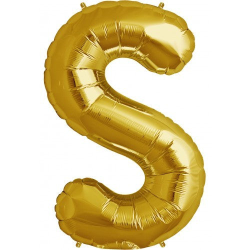 "Gold Foil Letter Balloon 34"" - S, SE-Surprize Enterprize, Putti Fine Furnishings"