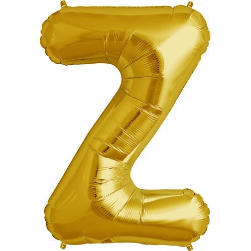 "Gold Foil Letter Balloon 34"" - Z"