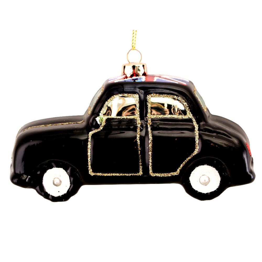 Gisela Graham London Taxi Glass Ornament | Putti Christmas Canadaanada