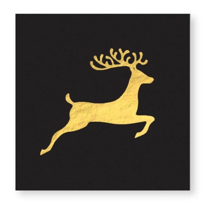 """Holiday Deer"" Beverage Napkin, CRG-CR Gibson, Putti Fine Furnishings"