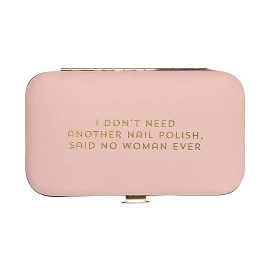 """I don't need another nail polish ..."" Pink Manicure Set"