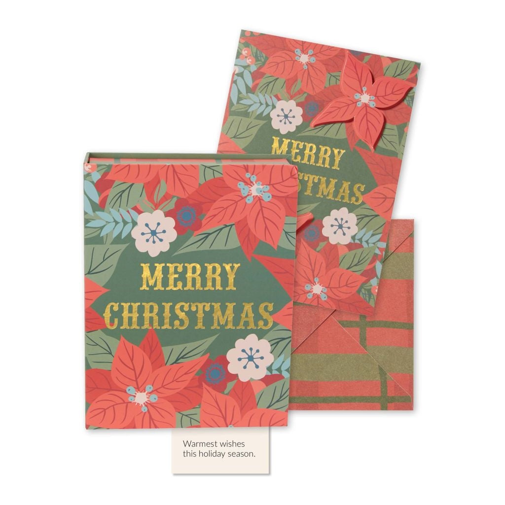 Boxed Christmas Cards - Poinsetta, CRG-CR Gibson, Putti Fine Furnishings