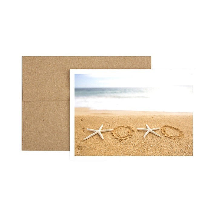 Hugs and Kisses Starfish Greeting Card