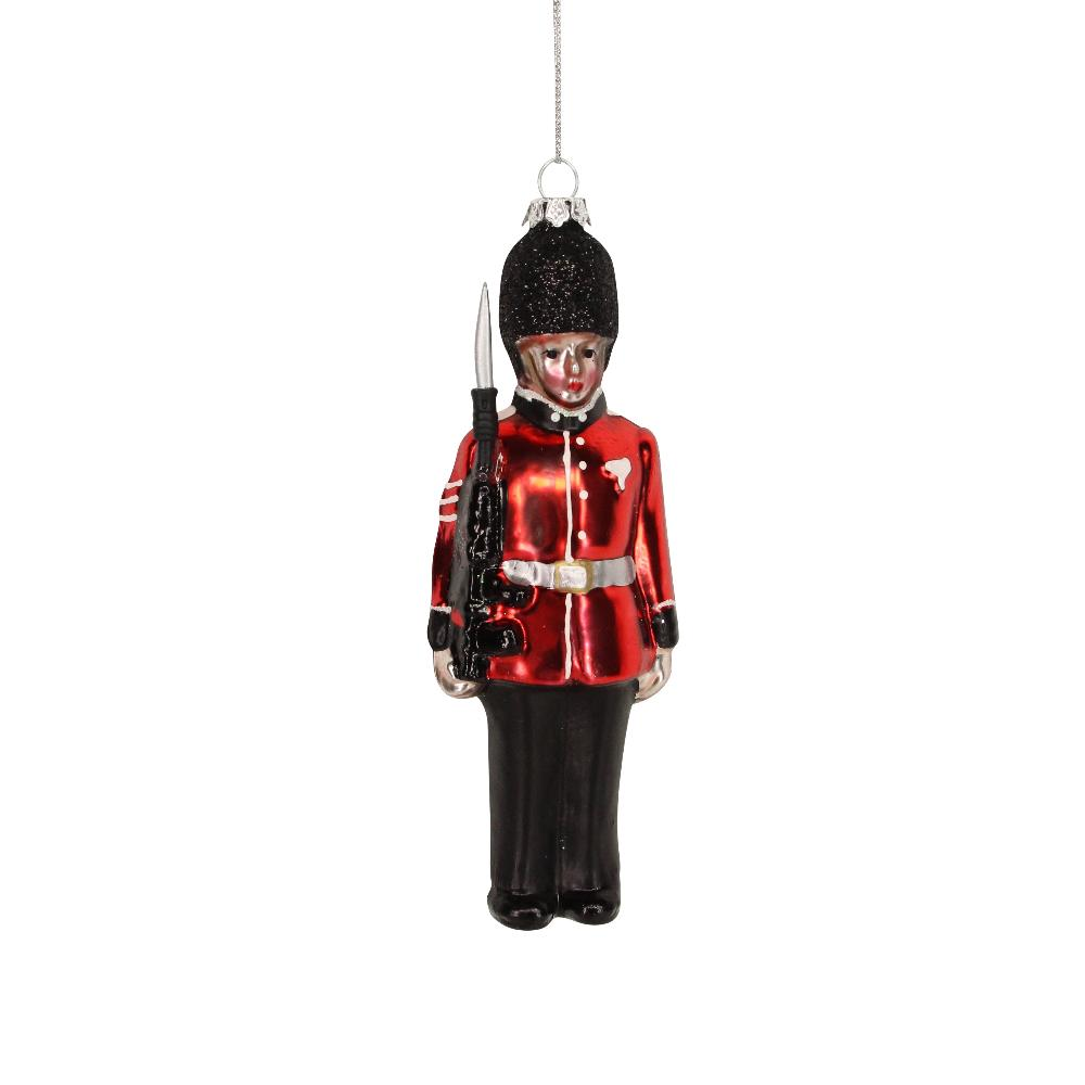 British Soldier Glass Ornament | Putti Christmas Canada