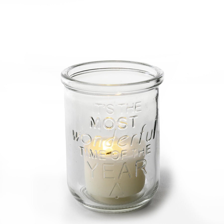 """Most Wonderful Time of the Year"" Tea Light Holder"