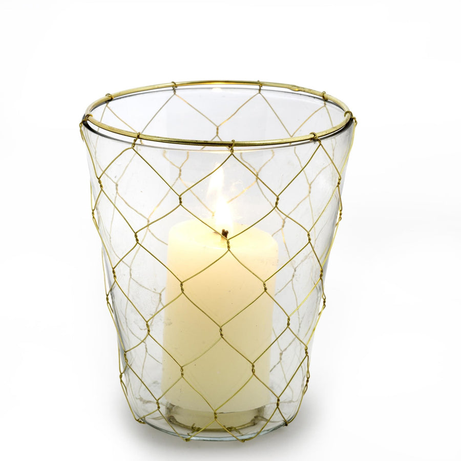Gold Weave Votive Holder - Large