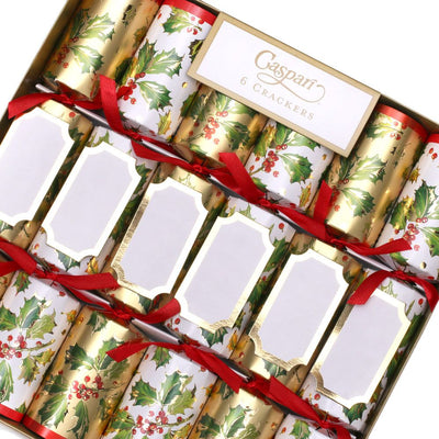 Gilded Holly Christmas Crackers