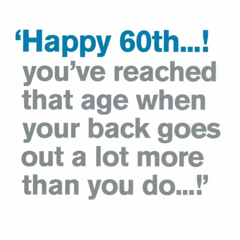 Happy 60th ..! You've reached that age... Greeting Card | Putti Canada