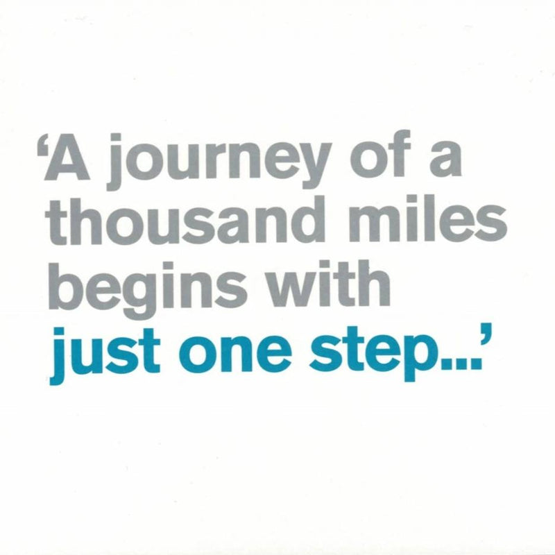 """A journey of a thousand miles..."" Greeting Card"