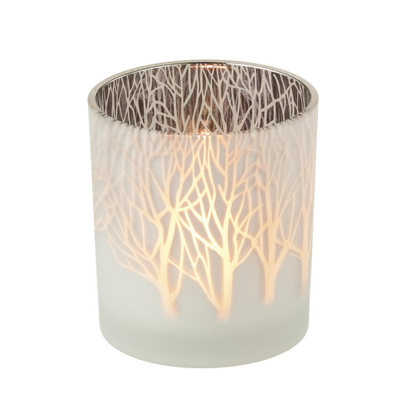Frosted Tree Tealight Holder  | Putti Christmas Celebrations Canada