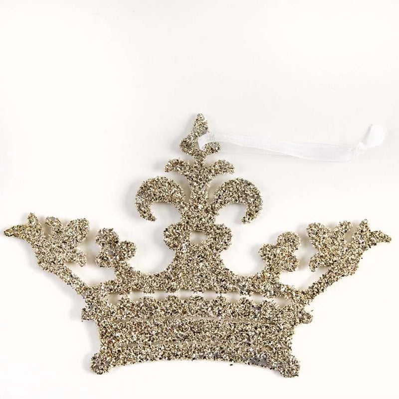 Queen Glitter Crown Ornament, IT-Indaba Trading, Putti Fine Furnishings