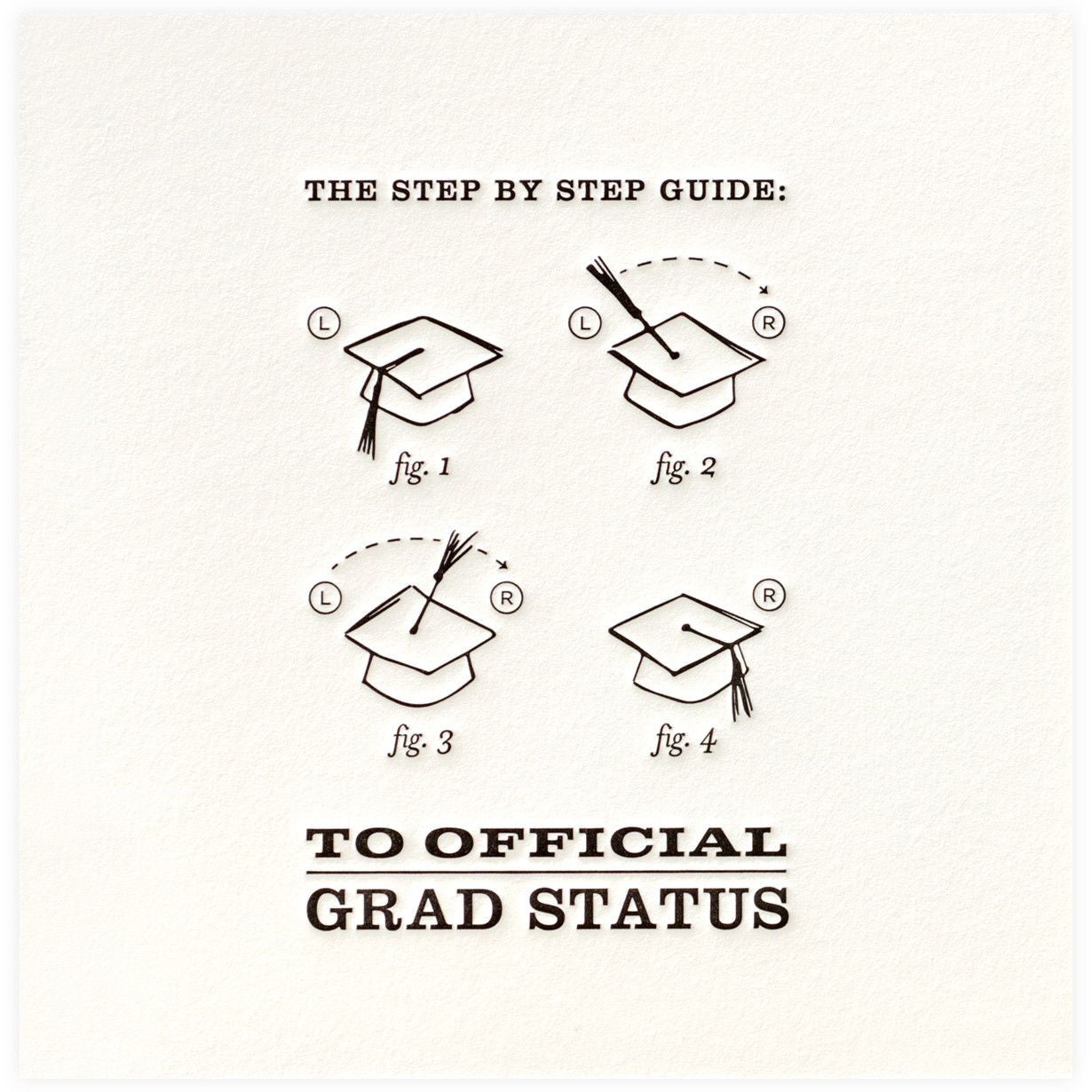 Official Grad Status Greeting Card, ED-Ellum Design, Putti Fine Furnishings