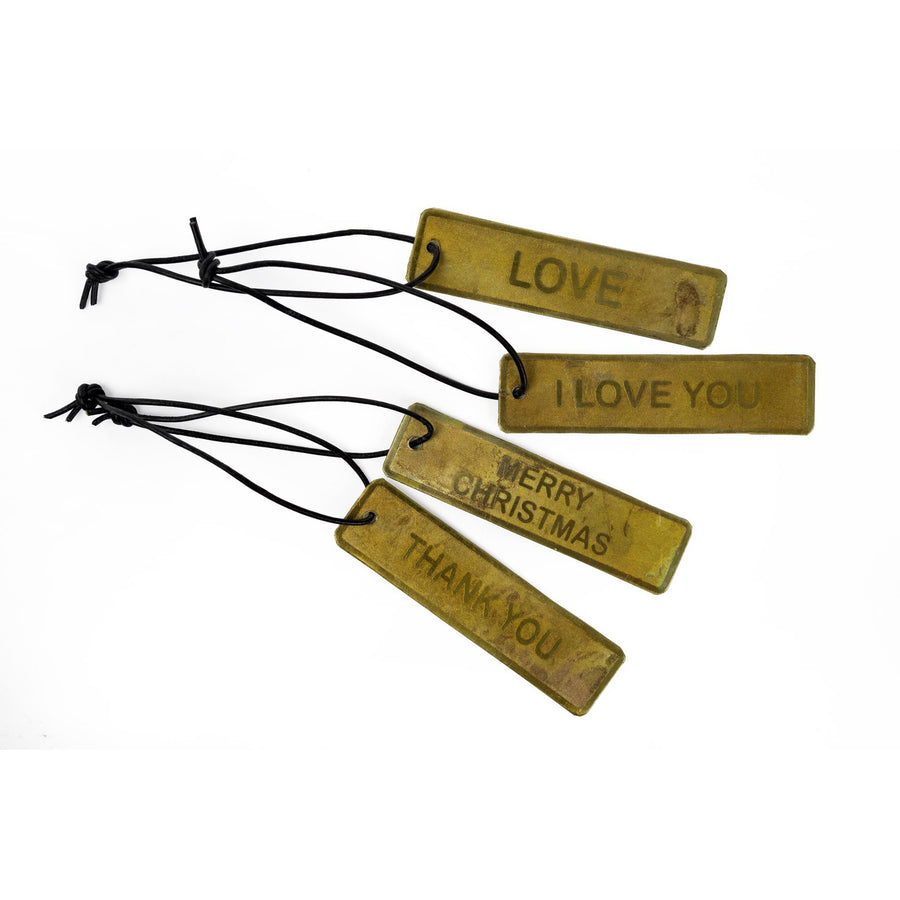 Brass Greeting Tags